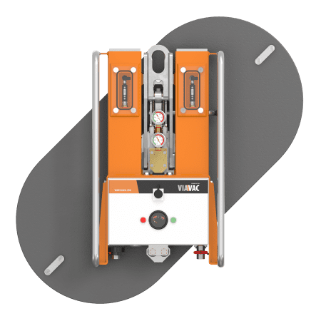 De vacuümheffer Cladboy compact CB2 roteert 360 graden